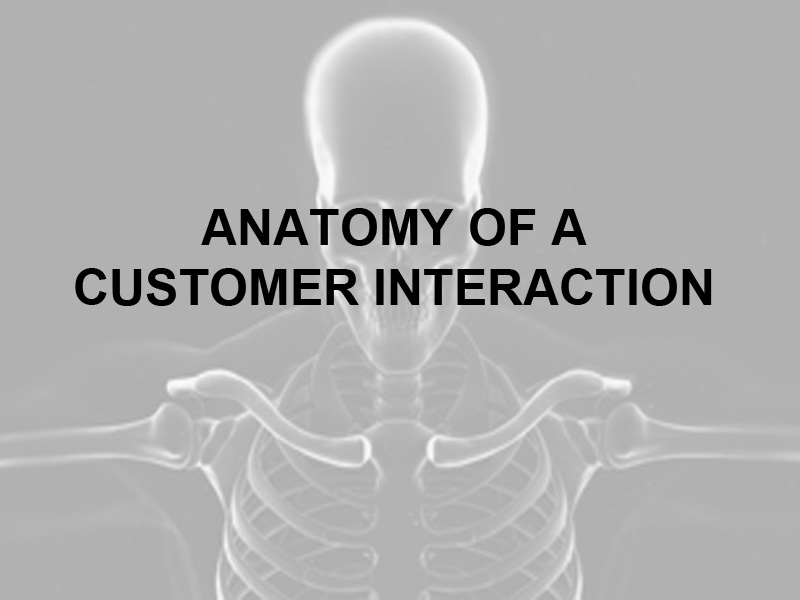 Anatomy of a Customer Interaction