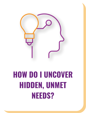 Our consultants uncover unmet needs